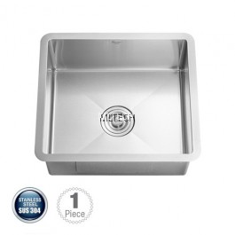 AMKS-4944 Undermount Single Bowl Kitchen Sink C/W S/S Waste