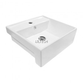 L-405A Semi-Recessed Countertop Basin