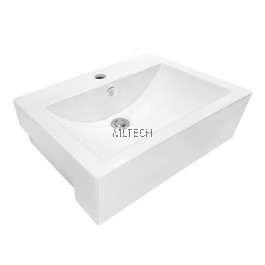 L-406A Semi-Recessed Countertop Basin