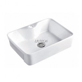 L-809 Semi-Recessed Countertop Basin
