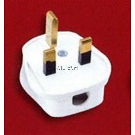 13A & 15A Plug Tops - 13A Non-Resilient, White