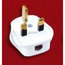 13A & 15A Plug Tops - Resilient (PC), White, w/o Nut