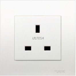Vivace Series - 13A 250V 1 Gang Socket Unswitched, White