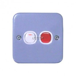 ESM Metal Clad Series - 20A Double Pole Switch with Neon