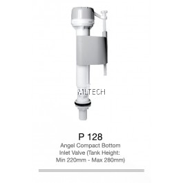 P128 Angel Compact Bottom Inlet Valve (Tank Height : Min 220mm - Max 280mm)