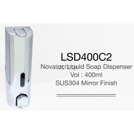 LSD400C2 Novatec Liquid Soap Dispenser - Mirror Finish