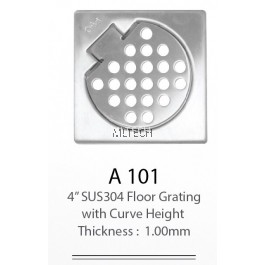 "A101 4"" SUS304 Floor Grating With Curve Height (Thickness: 1.00mm)"