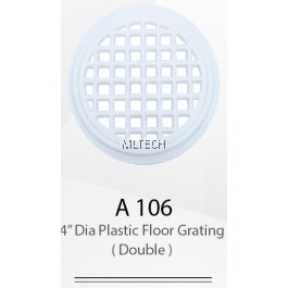 "A106 4"" Dia Plastic Floor Grating (Double)"