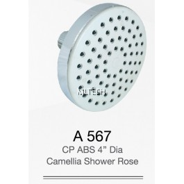 "A567 CP ABS 4"" Dia Camellia Shower Rose"
