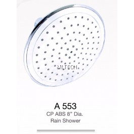 "A553 CP ABS 8"" Dia Rain Shower"