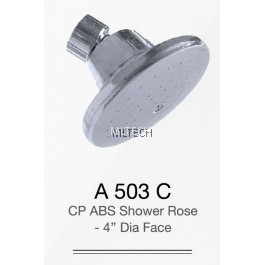 "A503C CP ABS Shower Rose - 4"" Dia. Face"