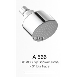 "A566 CP ABS Ivy Shower Rose - 3"" Dia. Face"