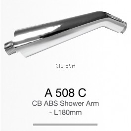 A508C CP ABS Shower Arm - L 180mm