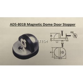 Door Accessories - ADS-801B Magnetic Dome Door Stopper