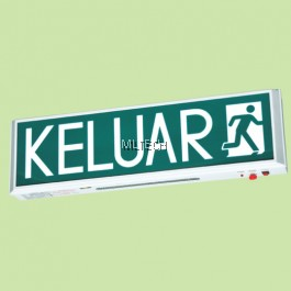 LE-908 SUPER BRIGHT WHITE LED WITH LONGER LIFE SPAN SELF-CONTAINED EMERGENCY KELUAR SIGN