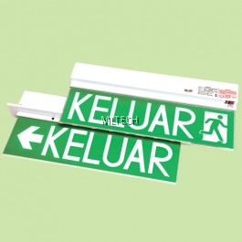 LE-213 / LE-213R SLIMLINE DESIGN FOR ELEGANT LOOK SELF-CONTAINED EMERGENCY KELUAR SIGN