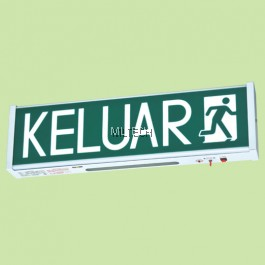 SE-908F FLUORESCENT TUBE SELF-CONTAINED EMERGENCY KELUAR SIGN