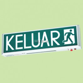 FLE-908 LED & FLUORESCENT TUBE SELF-CONTAINED EMERGENCY KELUAR SIGN