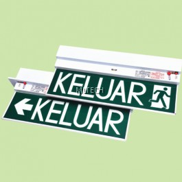 PR-213 / PR-213R SLIMLINE DESIGN FOR ELEGANT LOOK SELF-CONTAINED EMERGENCY KELUAR SIGN