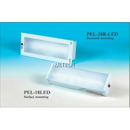 Self-Contained Emergency Luminaire - PEL-18LED (Surface mount)