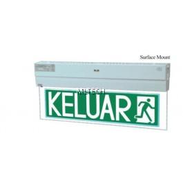 Self-Contained Emergency Keluar Sign - PEX-138-LED (Surface mount)