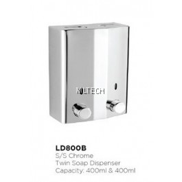 Novatec S/S Chrome Twin Soap Dispenser - LD800B