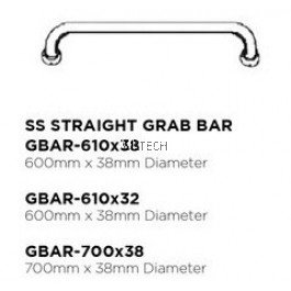Novatec Grab Bar Series SS Straight Grab Bar