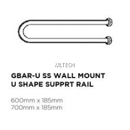 Novatec Grab Bar Series SS Wall Mount U Shape Support Rail - GBAR-U