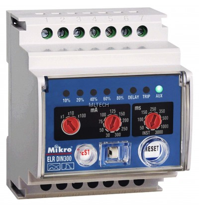 Mikro DIN Rail Earth Leakage Relay - DIN300E-240A