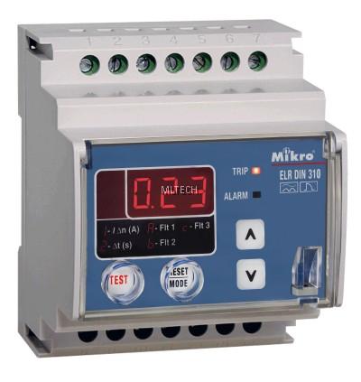 Mikro DIN Rail Earth Leakage Relay - DIN310E-230A