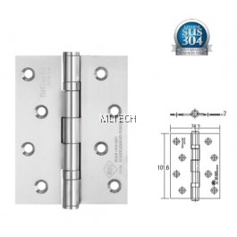 "Door Hinges - SGDH-743020-SS 2BB 4"" x 3"" x 2mm SUS304 Stainless Steel Hinge"
