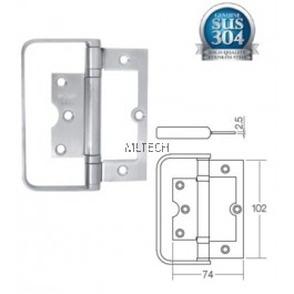 Door Hinges - Stainless Steel Bi-fold Hinge with Handle