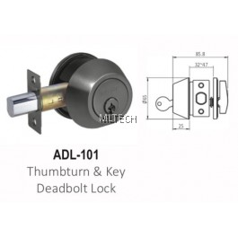 ARMOR - Matt Series - ADL-101 Thumbturn & Key Deadbolt Lock