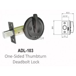 ARMOR - Matt Series - ADL-103 One-Sided Thumbturn Deadbolt Lock