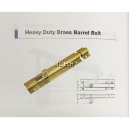 Door Fitting Acc - Heavy Duty Brass Barrel Bolt