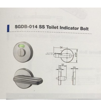 Door Fitting Acc - SGDB-014 SS Toilet Indicator Bolt