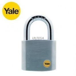 YALE Y120/40/125/1 SATIN CHROME BORON SHACKLE PADLOCK 40MM