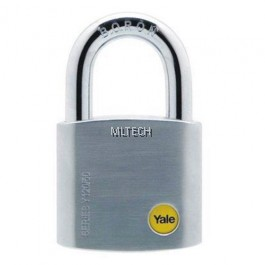 YALE Y120/50/127/1 50MM SATIN CHROME BORON SHACKLE PADLOCK 50MM
