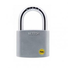 Yale Y120/60/135/1 Silver Series Outdoor Brass / Satin Padlock