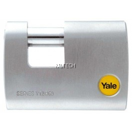 YALE Y124/60/110/1 60mm Outdoor Brass/Satin Straight Shackle Padlock