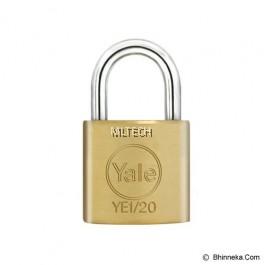 Yale YE1/20/111/1 Essential Series Indoor Solid Brass Padlock 20mm