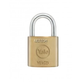 Yale YE1/25/125/1 Essential Series Indoor Solid Brass Padlock