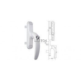 Multipoint Handle - SGWMH-WH869K-DA/30mm Euro Handle with Key & Double Accessories